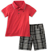 Calvin Klein Polo and Plaid Shorts Set