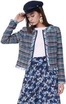 Juicy Couture Multi-Fringe Woven Jacket