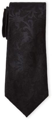 MICHAEL Michael Kors Silk Black Tonal Floral Tie