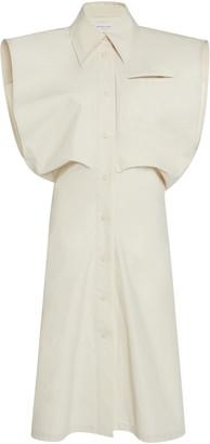 Bottega Veneta Coated Cotton-Canvas Midi Dress
