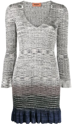 Missoni Gradient Effect Mini Dress