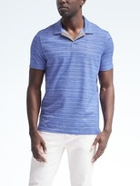 Banana Republic Pique Marled Stripe Polo