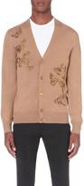 Alexander McQueen Butterfly wool and silk-blend cardigan