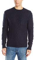 French Connection Men's Feltet Cable Knits Sweater