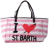 MC2 Saint Barth St. Barth Helene Striped Big Canvas Beige Beach Bag