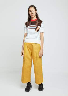 Marni Cotton Linen Drill Wide Leg Pants