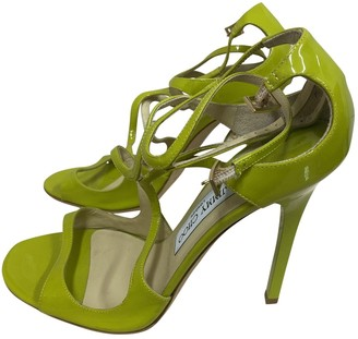 Jimmy Choo Lance Green Patent leather Sandals