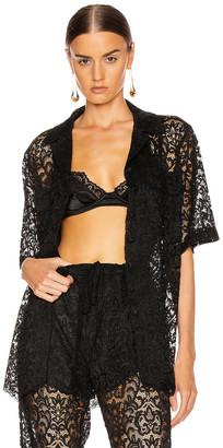 Marques Almeida Marques ' Almeida Safari Lace Shirt in Black | FWRD