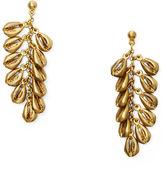 Ralph Lauren Brass Shell Dangle Earrings