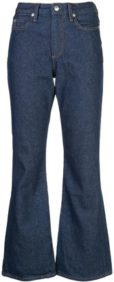 Simon Miller Stitch Detail Flared Jeans