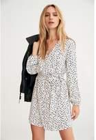 Dynamite Blaire Wrap Dress - FINAL SALE White W/ Black Splatter