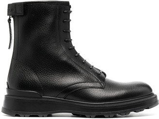 Woolrich Leather Biker Boots