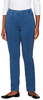 "As Is Denim & Co. Petite ""How Comfy"" Side Pocket Pants"