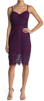 GUESS Contrast Lace Slip Dress