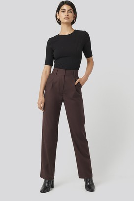 NA-KD Loose Fit Suit Trousers Red