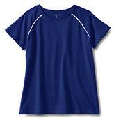 Classic Little Girls Short Sleeve Raglan Tee-Cobalt