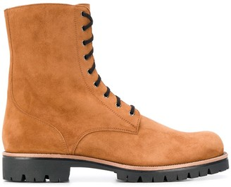 Rene Caovilla Side Zip Lace-Up Boots