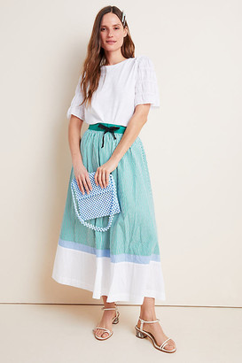 Maeve Charley Colorblocked A-Line Maxi Skirt By in Assorted Size M
