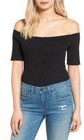 Glamorous Women's Rib Off The Shoulder Bodysuit