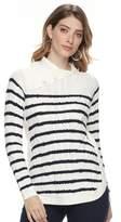 Croft & Barrow Women's Cable-Knit Splitneck Sweater