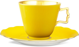 Augarten Wien Belvedere Yellow Coffee/Tea Cup With Gold Inside