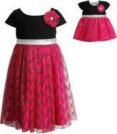 Youngland Young Land Short Sleeve Cap Sleeve Dress Set - Preschool