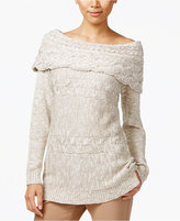INC International Concepts Petite Boat-Neck Cable-Knit Sweater, Only at Macy's