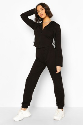 boohoo Fitted Zip Through Tracksuit