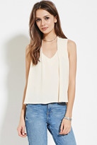 Forever 21 FOREVER 21+ Contemporary Pleat-Shoulder Top