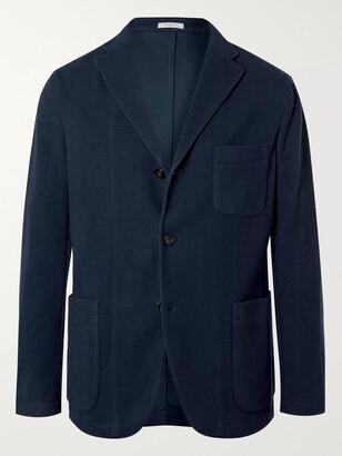 Boglioli Navy Cotton-Blend Jersey Blazer