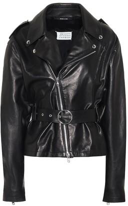 Maison Margiela Leather biker jacket