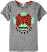 Appaman Swamp Mask Graphic Tee (Toddler/Kid) - Light Grey Heather - 5