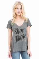 Local Celebrity Shoe Whore Jovi Tee in Heather Grey