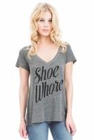 Local Celebrity Shoe Whore Jovi Tee in Heather Grey
