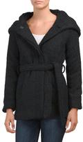 Juniors Boucle Belted Coat