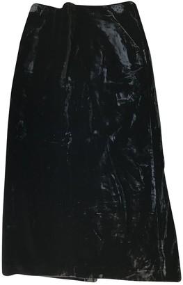 Cacharel Black Velvet Skirt for Women