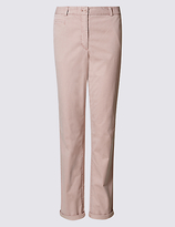 M&S Collection Pure Cotton Turn Up Standard Chinos