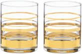 Kate Spade Hampton Street Double Old Fashioned Glasses (Set of 2)