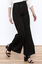 Alythea Striped Wide-Leg Trousers