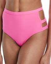 Tularosa Nobel High-Waist Side-Cutout Swim Bikini Bottom