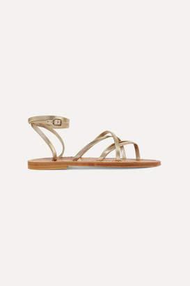 K Jacques St Tropez Zenobie Leather Sandals - Gold