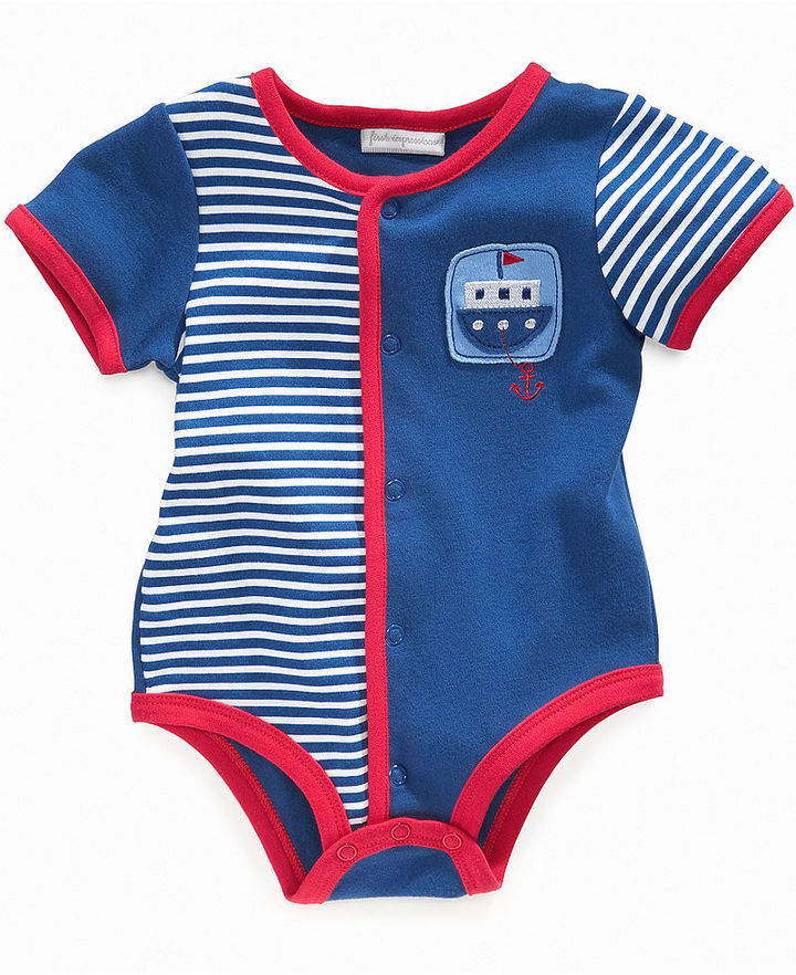 First Impressions Baby Bodysuits, Baby Boys French Creepers