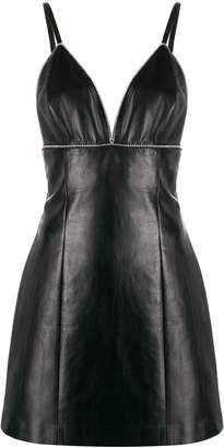 Ermanno Scervino leather mini dress