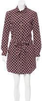 Diane von Furstenberg Abstract Print Button-Up Dress