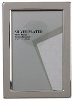 Evergreen Tarnish Resistant Silver Plated Narrow Edge Photo/Picture Frame, 4x6 inch