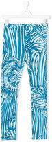 Roberto Cavalli teen zebra print leggings - kids - Cotton/Elastodiene - 14 yrs