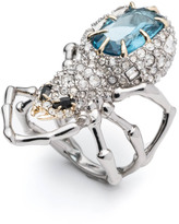 Alexis Bittar Crystal Encrusted Spider Ring