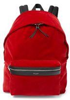 Saint Laurent Velour Backpack