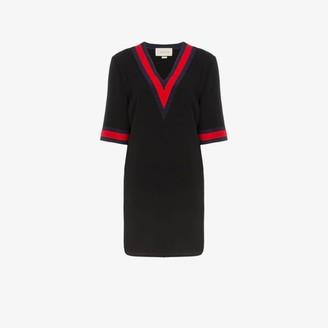 Gucci V-neck mini dress