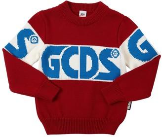 GCDS Intarsia Knit Wool Blend Sweater